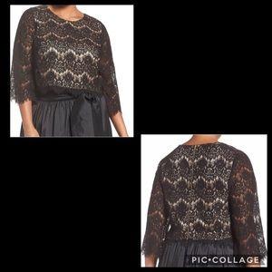 ELIZA J• semi crop lace top